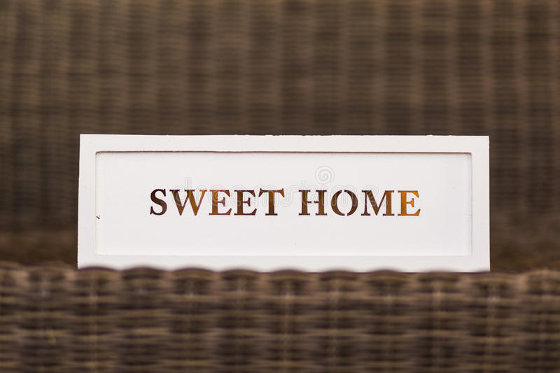 sweet home white sign on wood vintage background. Home and lifestyle. royalty free stock photography