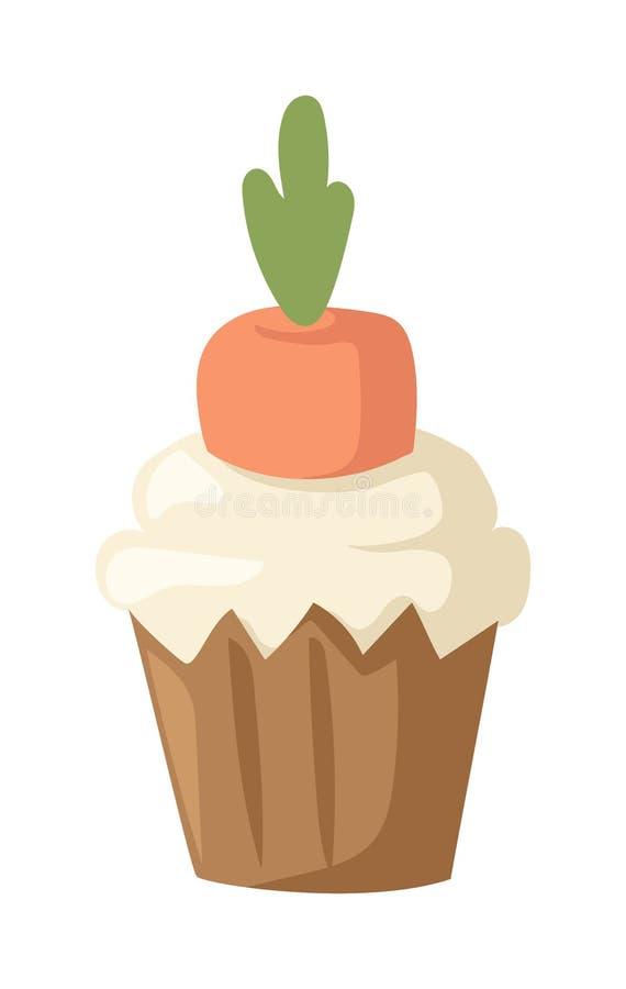 Free Sweet Homemade Carrot Cake Gourmet Fresh Dessert Vector. Royalty Free Stock Photo - 68898765