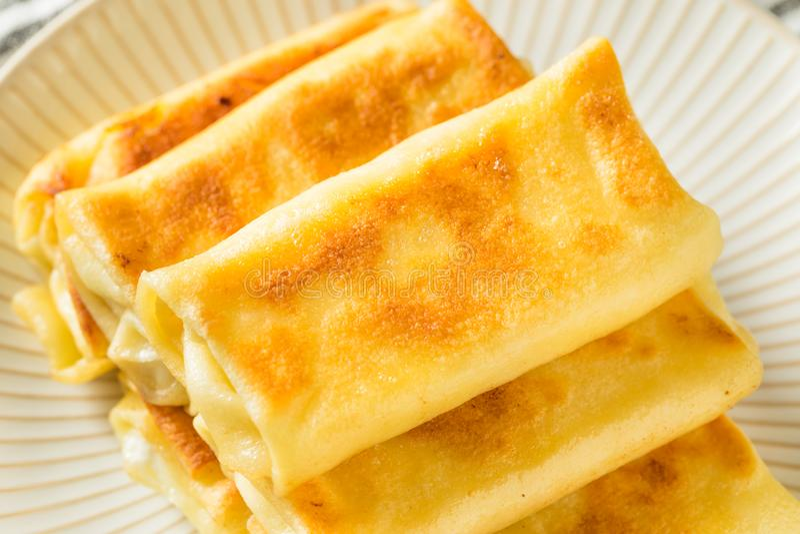 Sweet Homemade Cheese Blintzes stock images