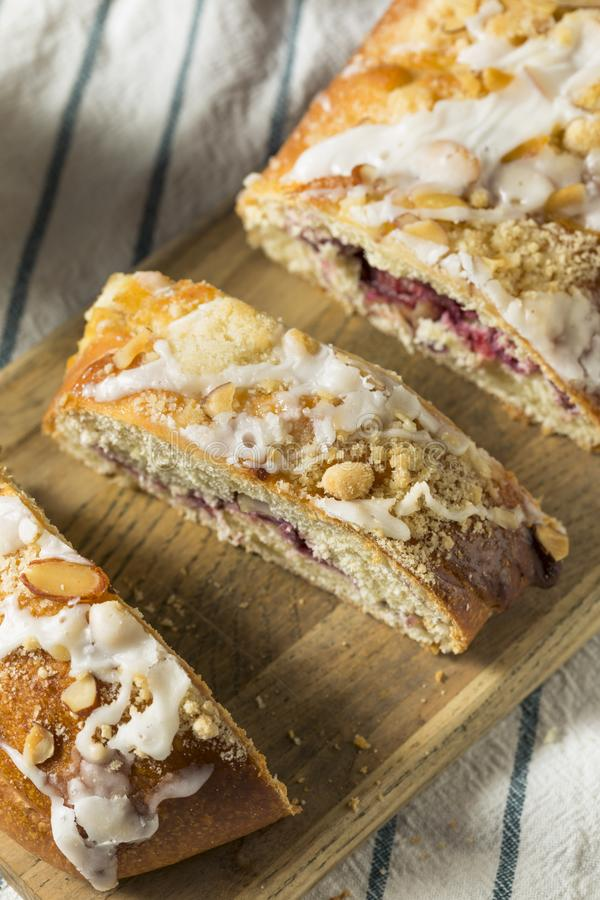 Sweet Homemade Coffee Cake Strudel stock images