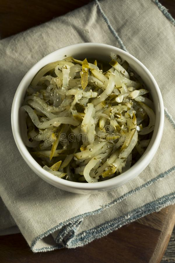 Sweet Homemade Gourmet Pickle Relish. In a Bowl stock image