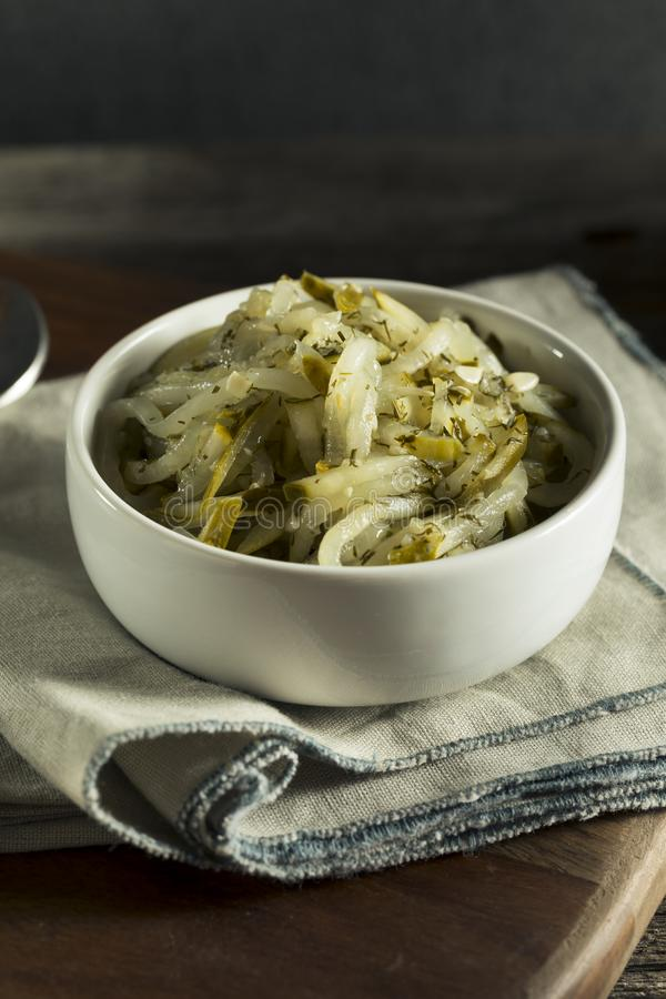 Sweet Homemade Gourmet Pickle Relish. In a Bowl royalty free stock images