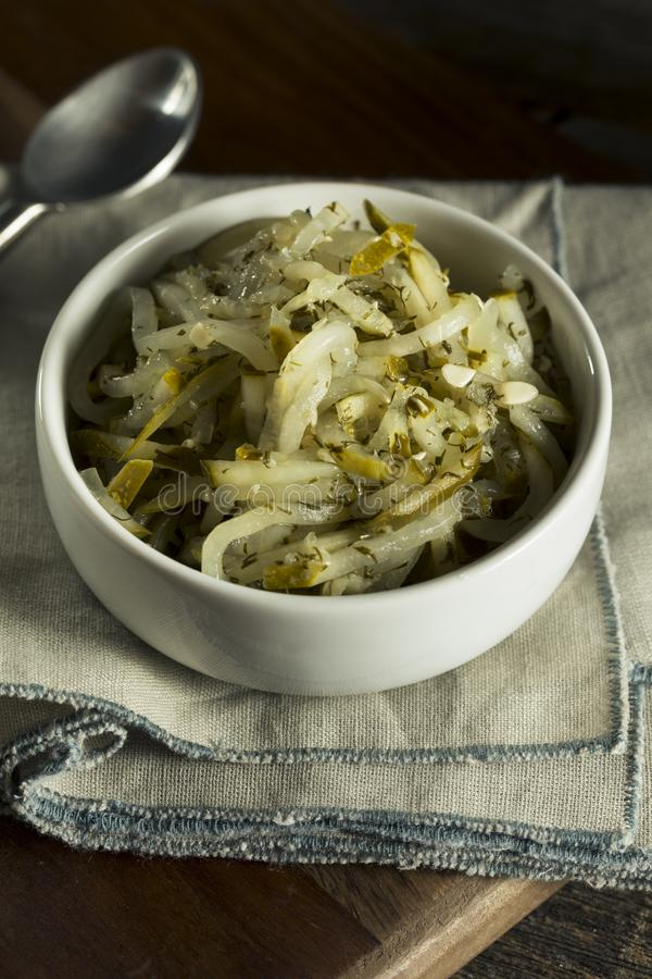Sweet Homemade Gourmet Pickle Relish. In a Bowl royalty free stock photo