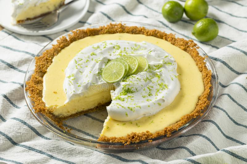 Sweet Homemade Key Lime Pie royalty free stock photography