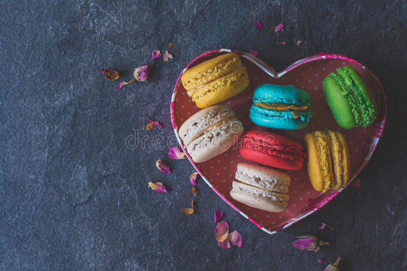 Sweet homemade macaroons royalty free stock images