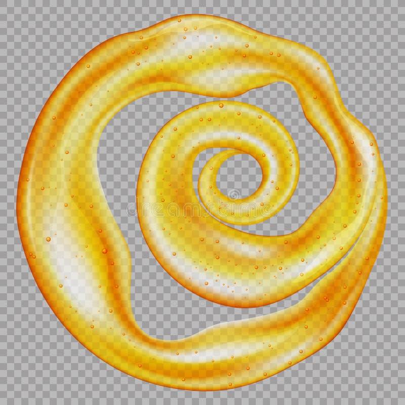 Sweet honey isolated on a transparent background royalty free illustration