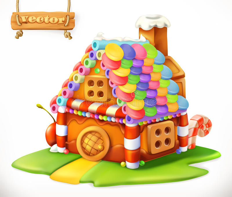 Sweet house. vector icon royalty free illustration