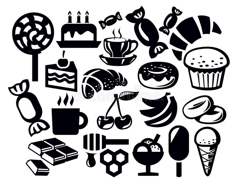 Download Sweet icon stock vector. Image of fruits, dessert, collection - 30428699