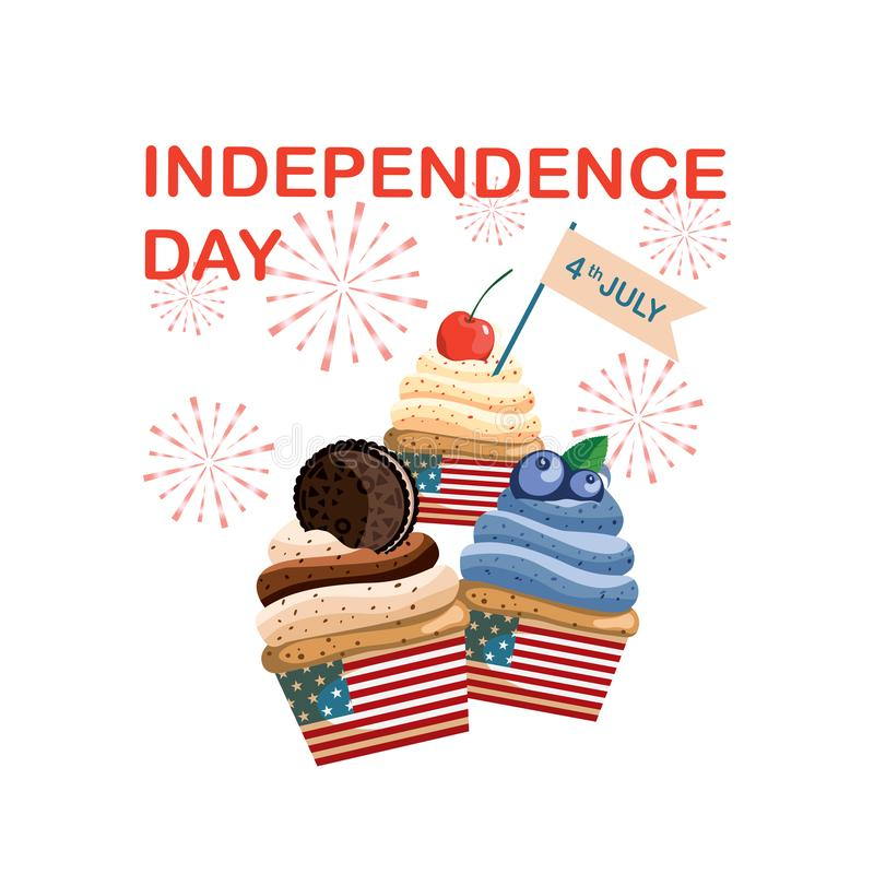 Sweet July fourth, United States Independence Day. stock photos