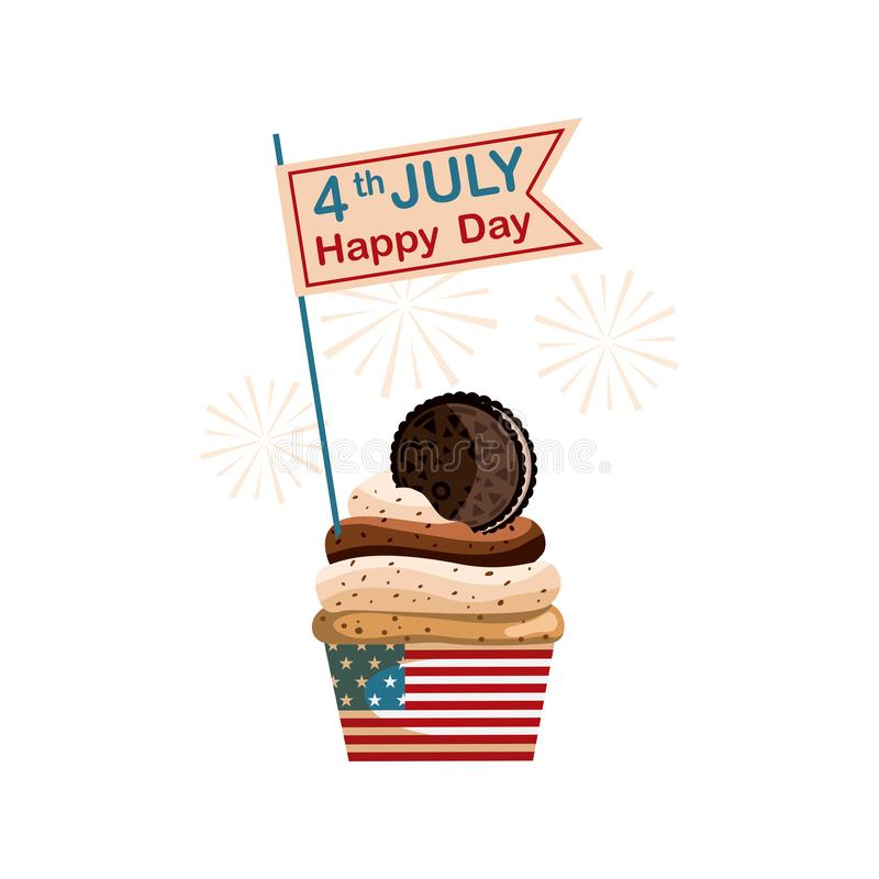 Sweet July fourth, United States Independence Day royalty free stock images