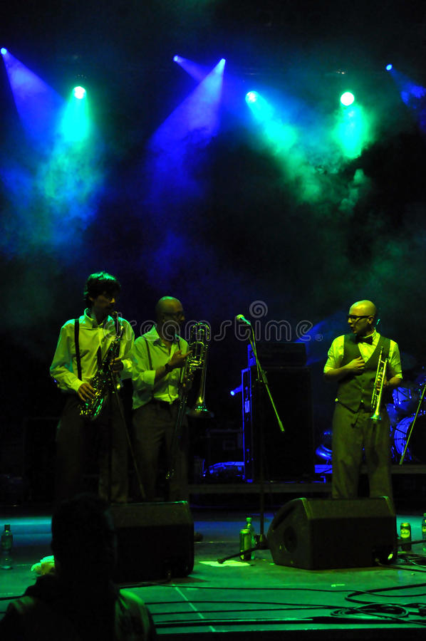Download The Sweet Life Society Band From Italy Performs Live On The Stage Editorial Stock Photo - Image: 32642863