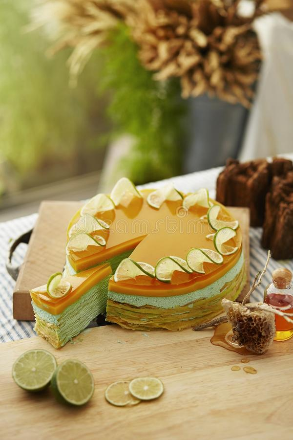 Sweet Lime Cake royalty free stock photos