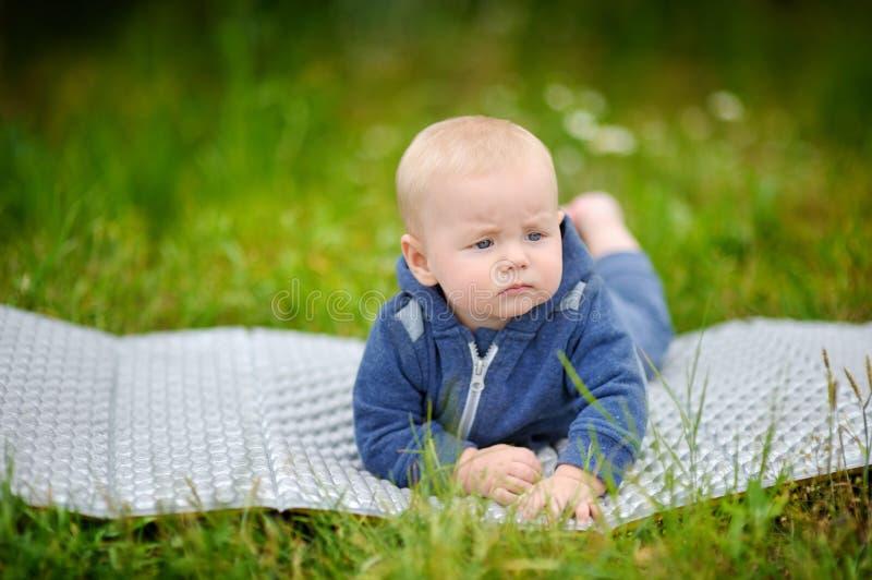 Sweet little baby boy royalty free stock image