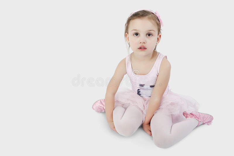 Sweet little ballet dancer royalty free stock photos