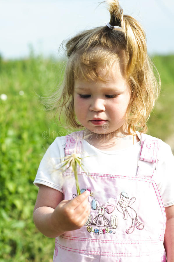 Download Sweet Little Girl With Flower Stock Photos - Image: 14583993