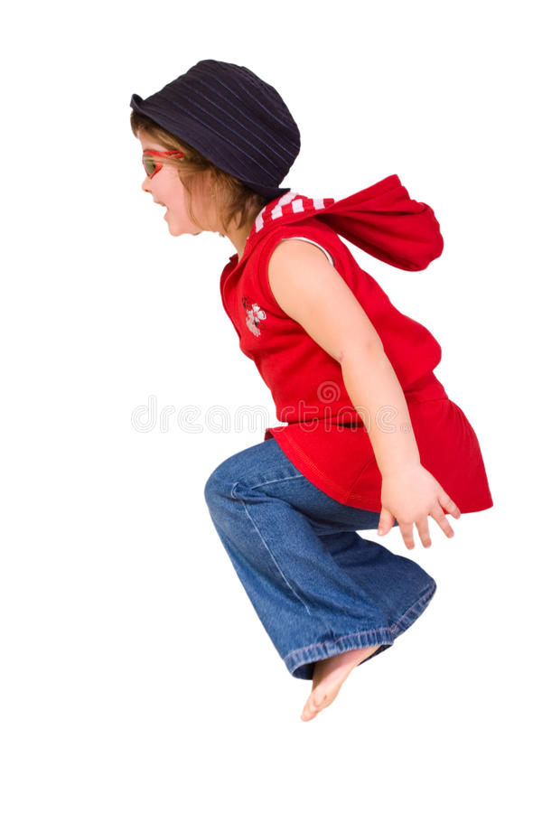 Free Sweet Little Girl Jumps Stock Image - 13681271