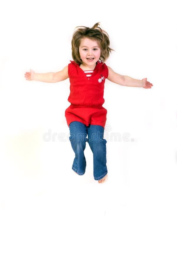 Free Sweet Little Girl Jumps Stock Images - 9539324