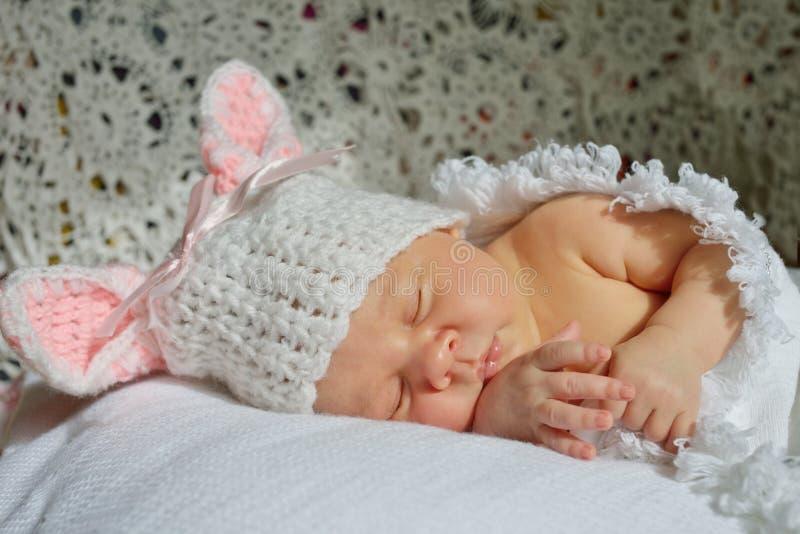 Sweet little newborn stock photo