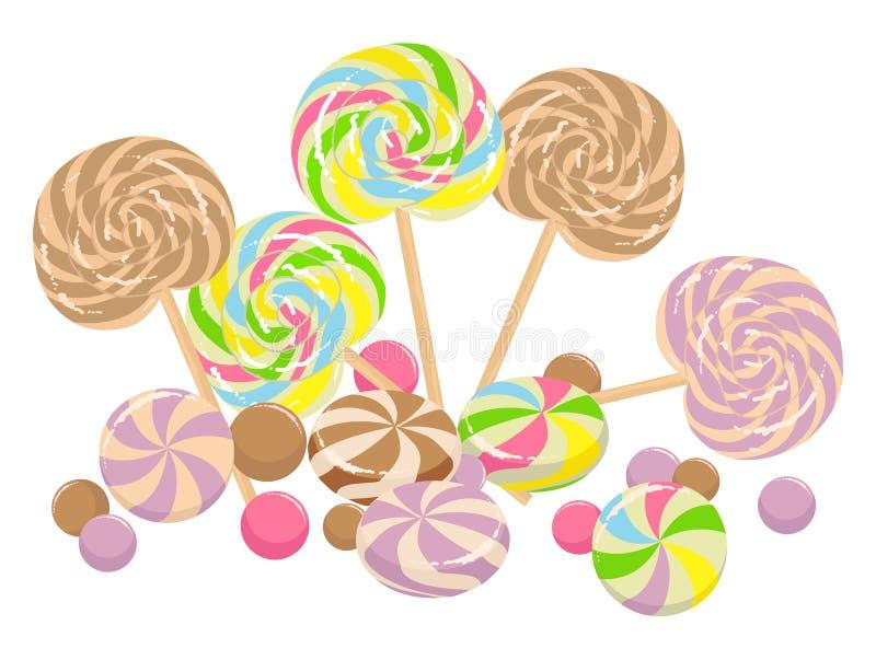 Sweet lollipops royalty free illustration