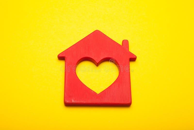 Sweet love home concept, heart decor royalty free stock photos