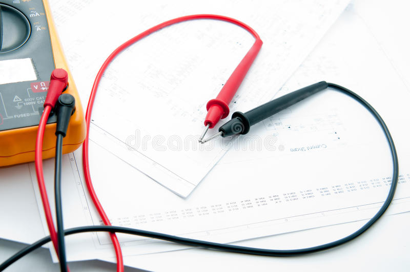 Sweet and Lovely Multi Meter. Probe Multi meter Equipment for check your project Electronic royalty free stock photo
