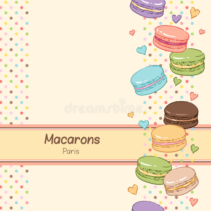Sweet macaroons royalty free illustration