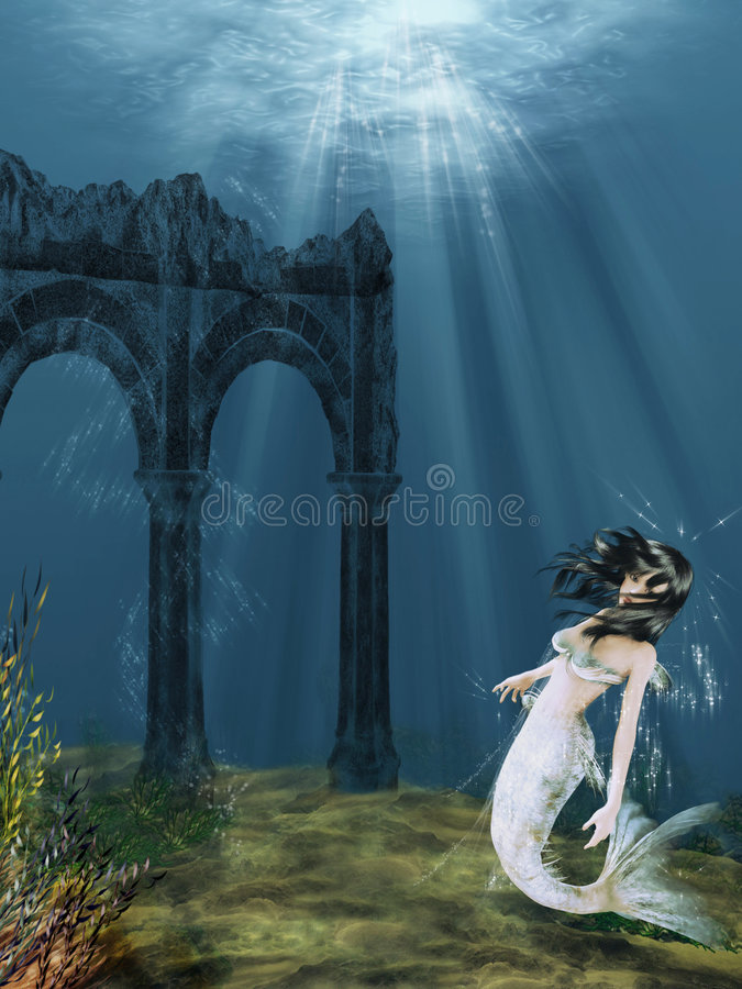 Free Sweet Mermaid Stock Photography - 5708172