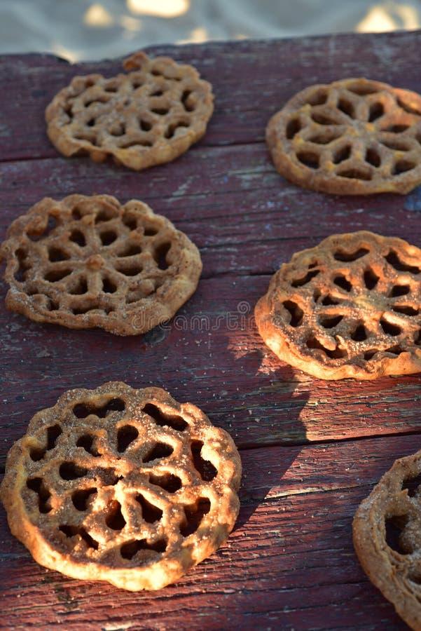 Sweet Mexican food cookies pastries Bunuelos royalty free stock photo