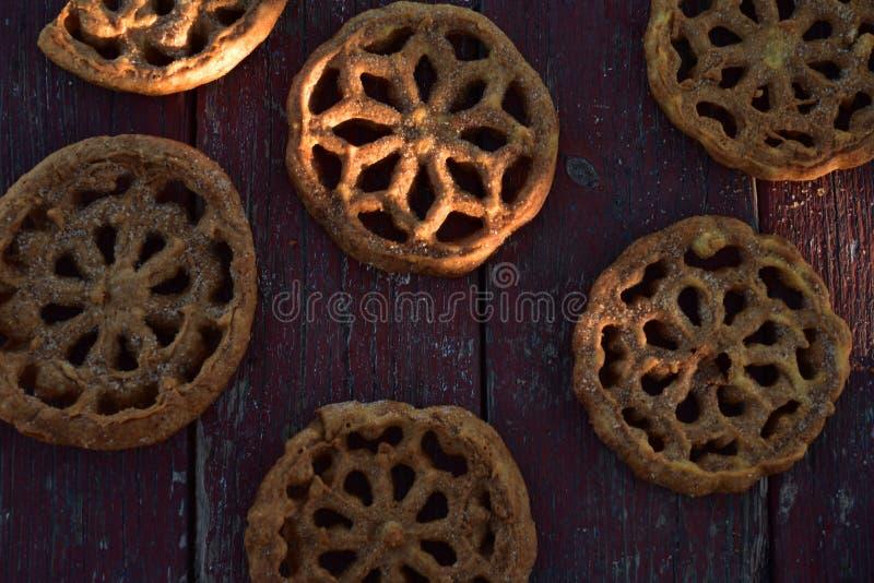 Sweet Mexican food cookies pastries Bunuelos stock photo