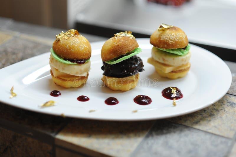 Sweet Mini Burgers royalty free stock image