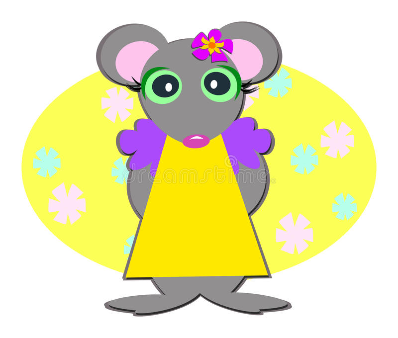 Download Sweet Mouse Girl stock vector. Image of illustration - 21305468