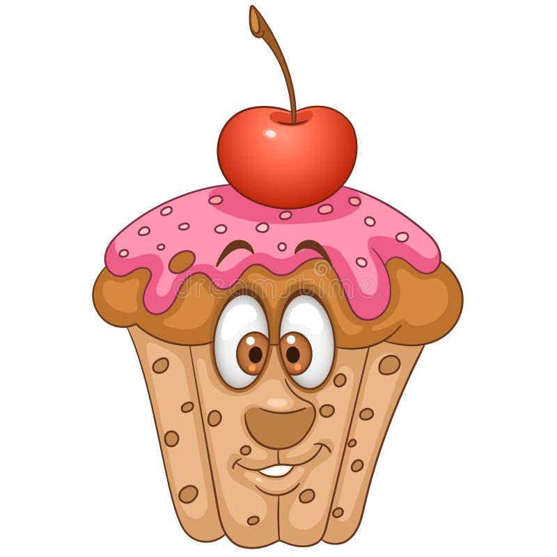Cartoon Sweet Muffin royalty free illustration