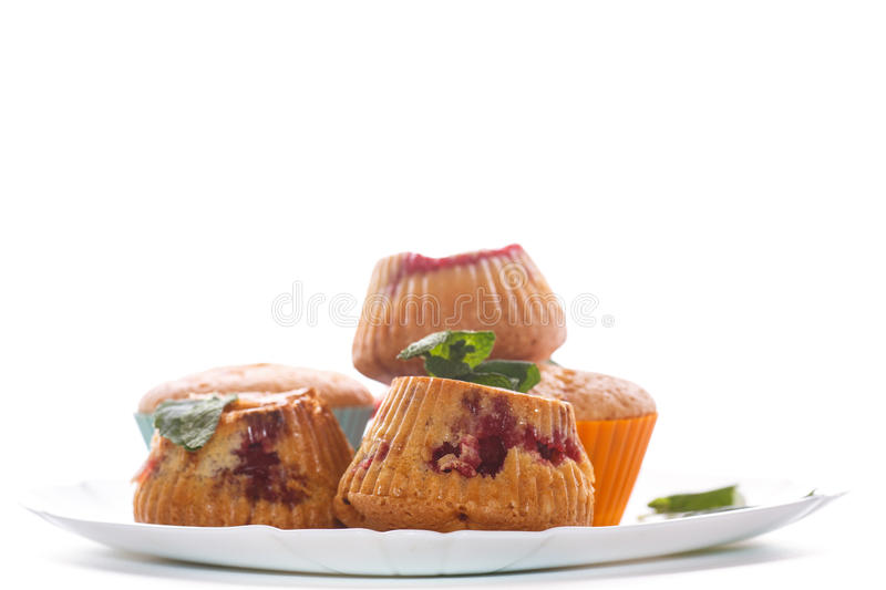 Download Sweet Muffins Stuffed With Cherries Stock Image - Image: 83705165