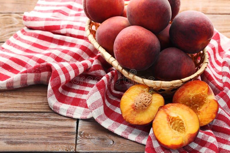 Sweet nectarines stock photos
