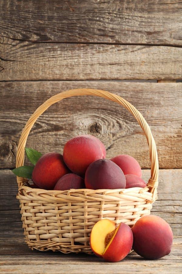 Sweet nectarines royalty free stock photo
