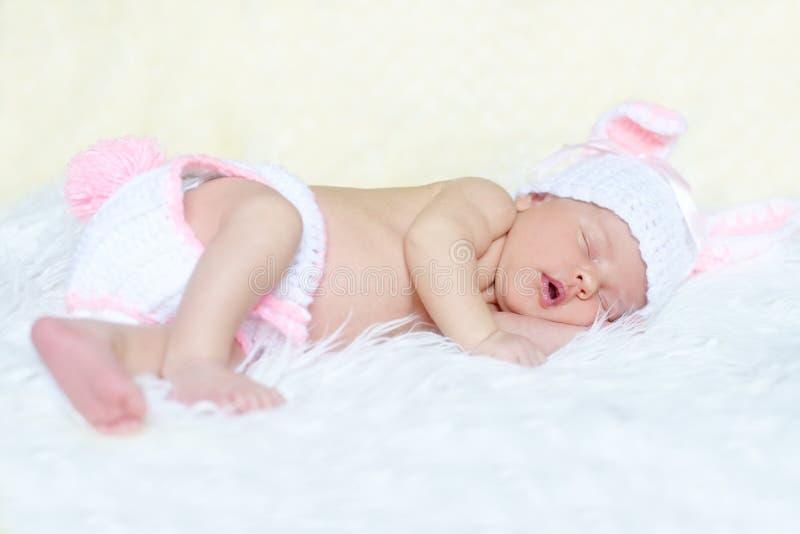 Sweet newborn stock image