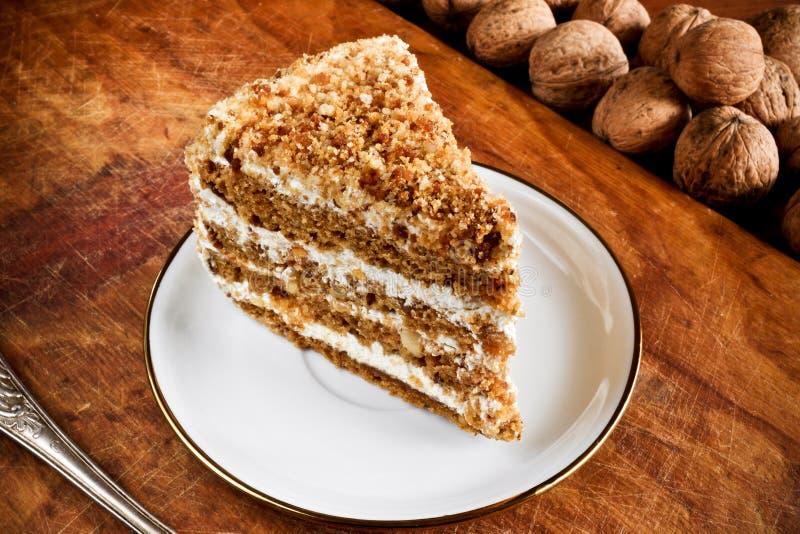 Sweet nut cake royalty free stock photos