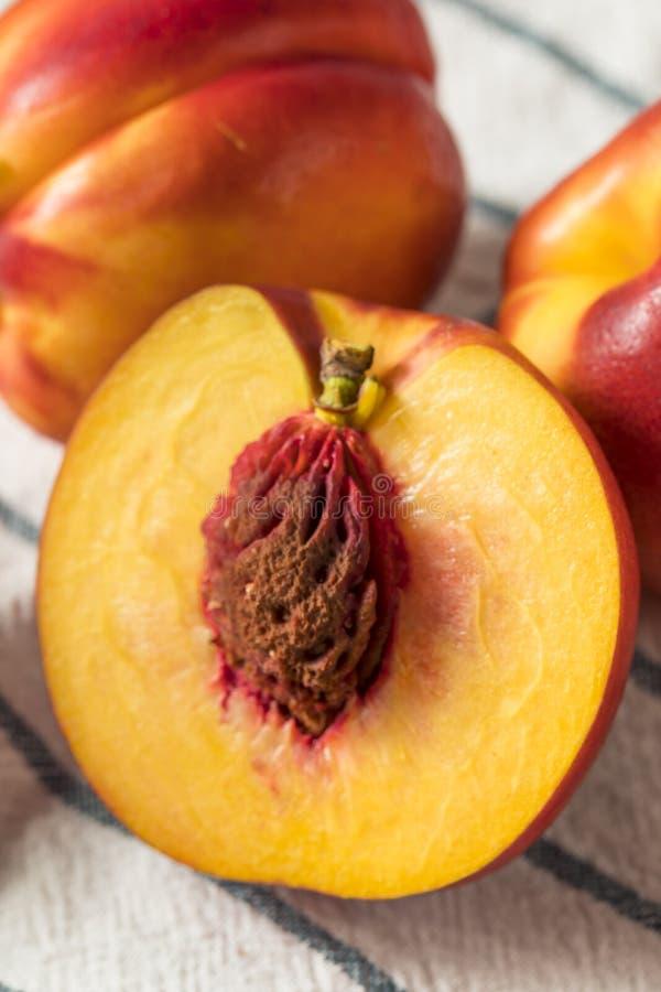 Sweet Organic Ripe Yellow Nectarines royalty free stock images
