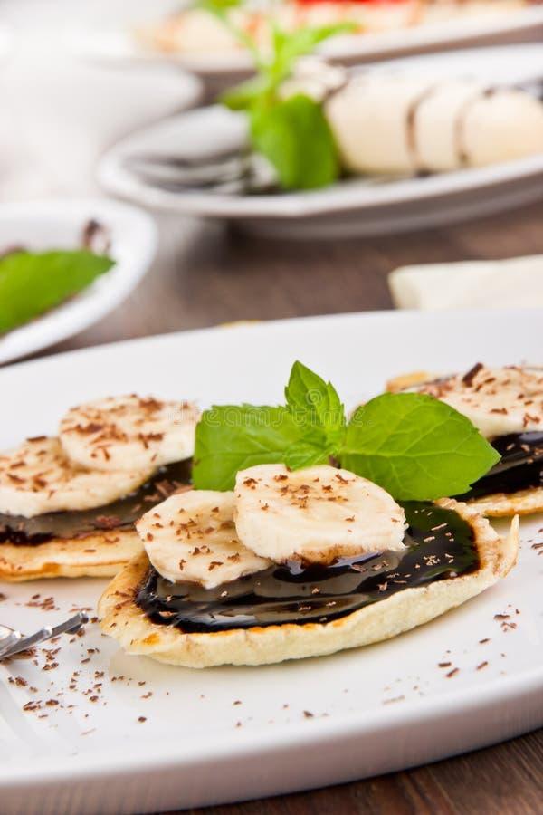 Sweet pancakes royalty free stock images
