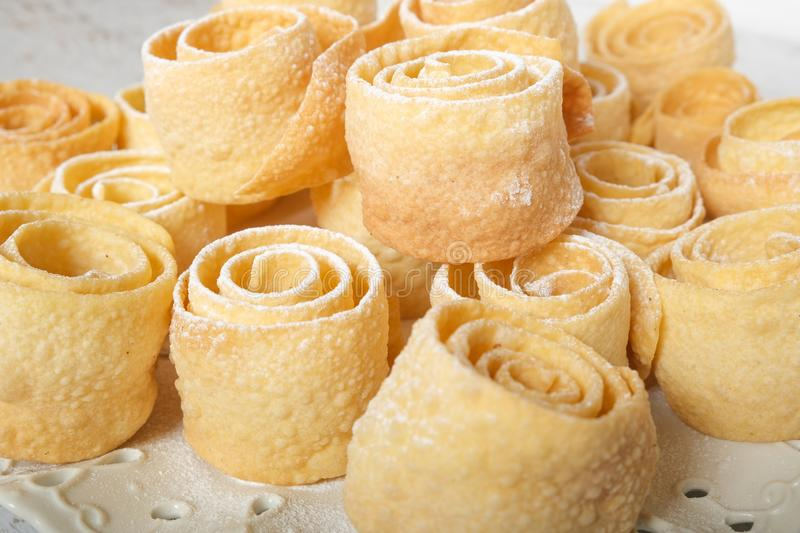 Sweet pasrty rolls stock images