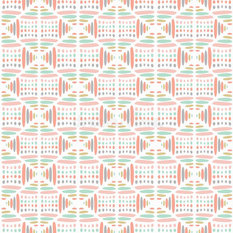Sweet pastel abstract vector seamless pattern. Modern stylish texture ideal for children. Repeating geometric tiles from vector illustration