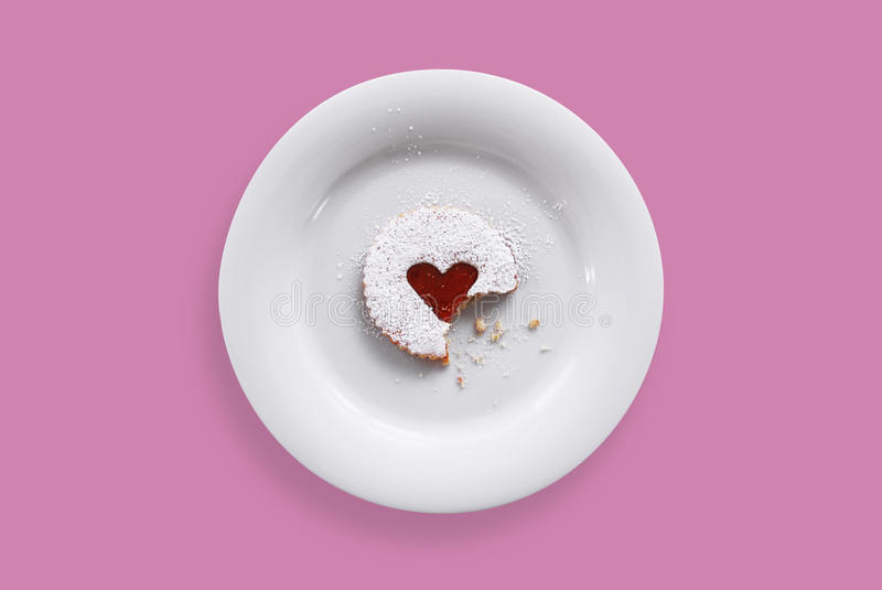 Sweet pastry on a plate royalty free stock image