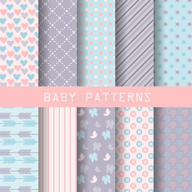 Sweet patterns royalty free illustration