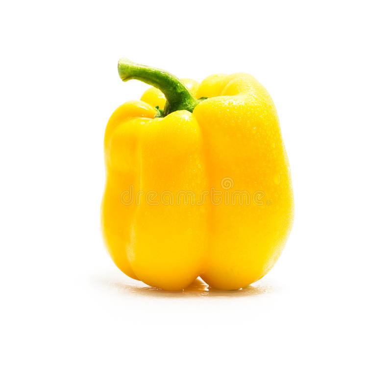 Sweet pepper. Isolated on a white background stock photos