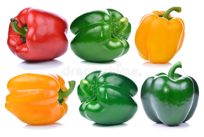 Sweet pepper isolated on white background.  royalty free stock image