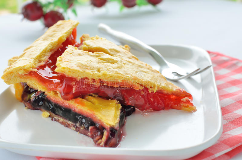 Download Sweet pie with jam stock photo. Image of baked, table - 26207254