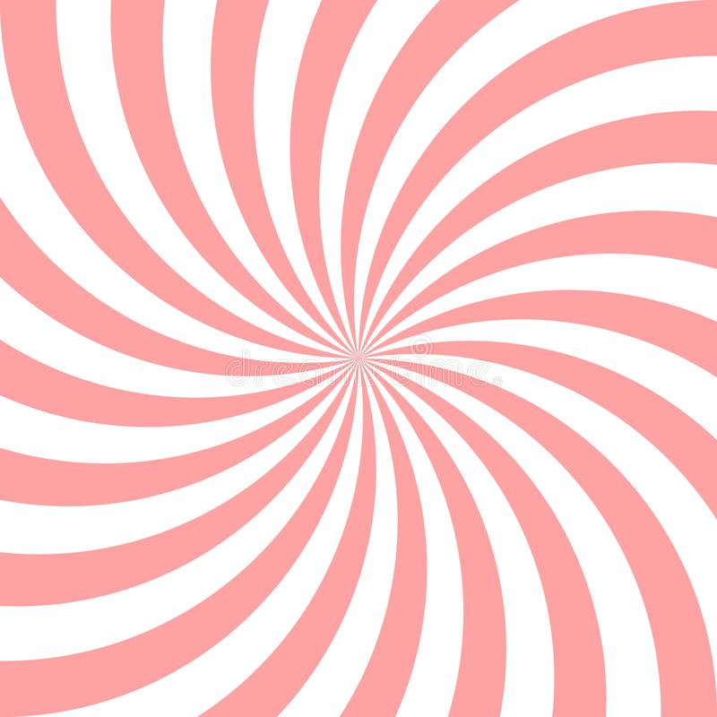 Sweet pink candy abstract spiral background. Vector illustration vector illustration