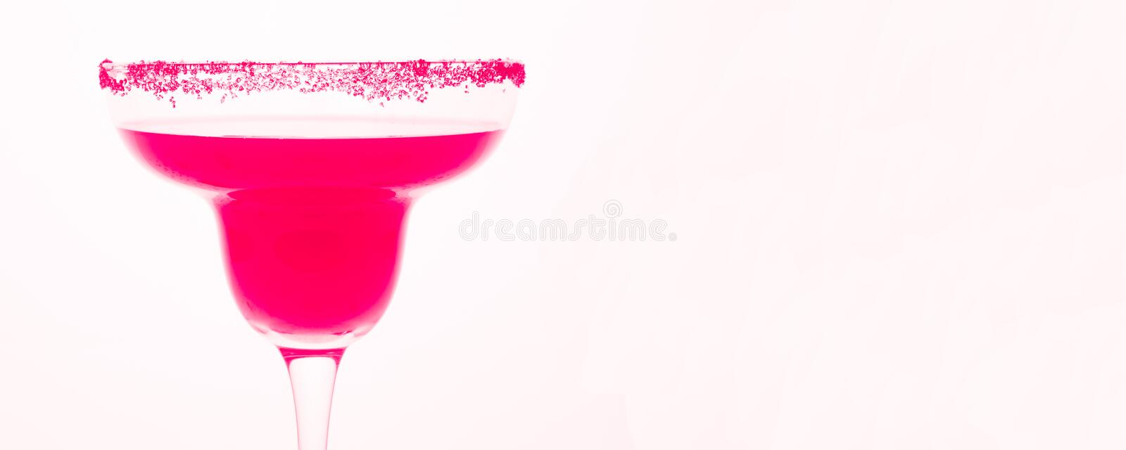 Sweet Pink Cocktail royalty free stock photo