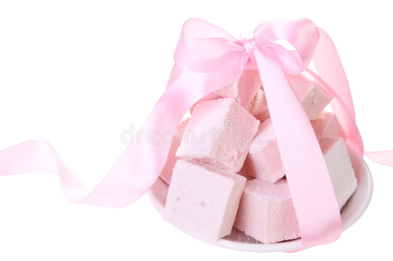 Sweet Pink Delight on White stock image
