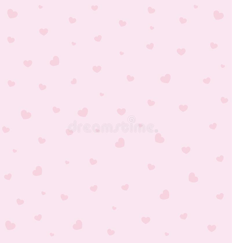 Sweet pink heart pattern. Beautiful and sweet pink valentines day pattern stock illustration
